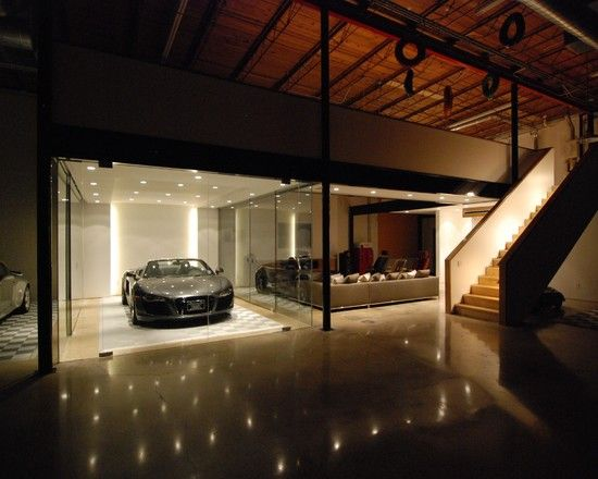 Awesome Garage Design The Car Cave Night View Sport Sedan